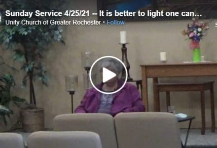 April 25 Sunday Service